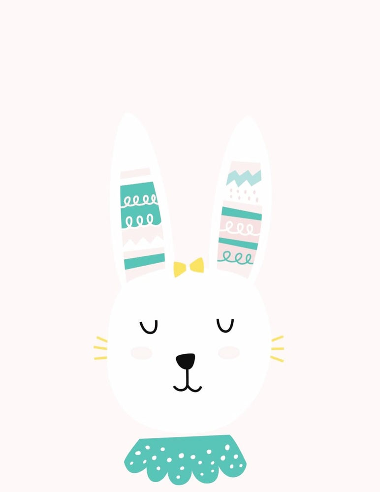 Image of GIRL RABBIT ART PRINT