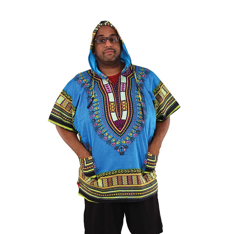 Image of Traditional Print Hoodie Dashiki