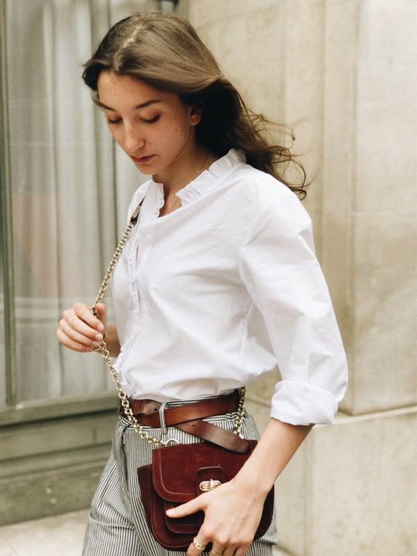 Chemise Anna blanche - Maison Brunet Paris