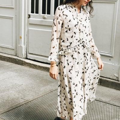 Robe Eva écrue imprimé à fleurs 195€ -50% - Maison Brunet Paris