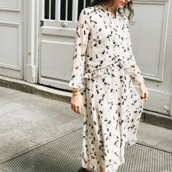Robe Eva écrue imprimé à fleurs 195€ -30% - Maison Brunet Paris