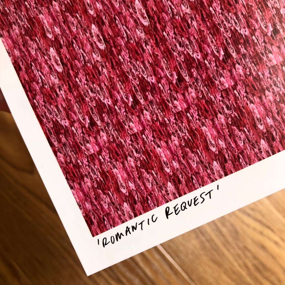 Image of 'ROMANTIC REQUEST' MAGIC EYE B5 BIG POSTCARD