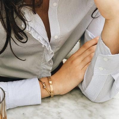 Chemise Anna à rayures bleues - Maison Brunet Paris