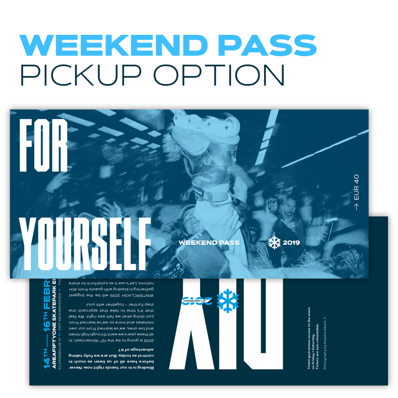 Image of Winterclash 2019 Weekend Pass - Pickup Option