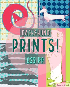 Image of Dachshund prints