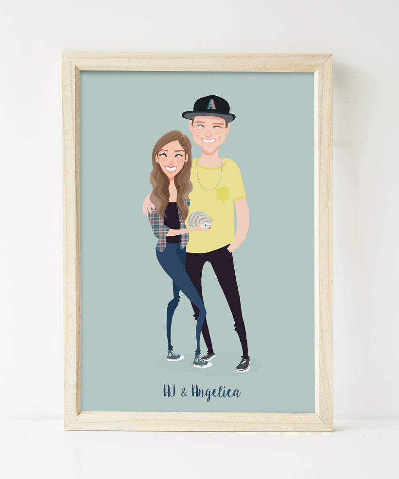Image of Couple portrait with a hedgehog