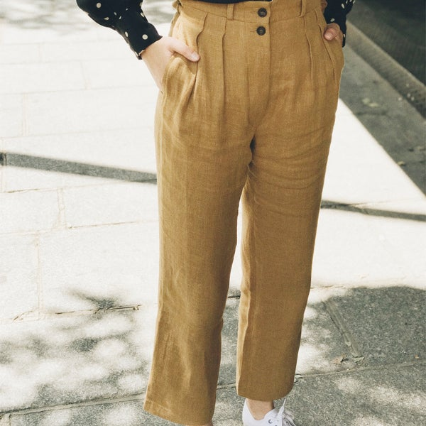 Pantalon Larry Ocre 145€  -50% - Maison Brunet Paris