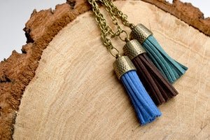 Image of Antique Brass Tassel Necklaces