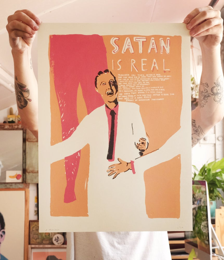 Image of 'Satan Is Real' Print