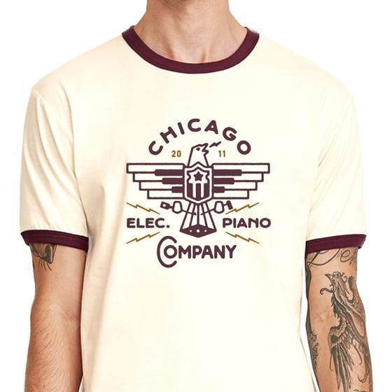 Image of Ringer Shirt with Eagle Logo