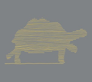 Image of Tortoise print technical t-shirt