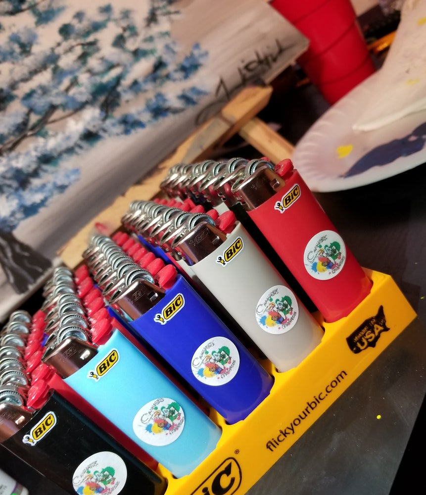 Image of Cannabis & Canvases Lighters w/Logo