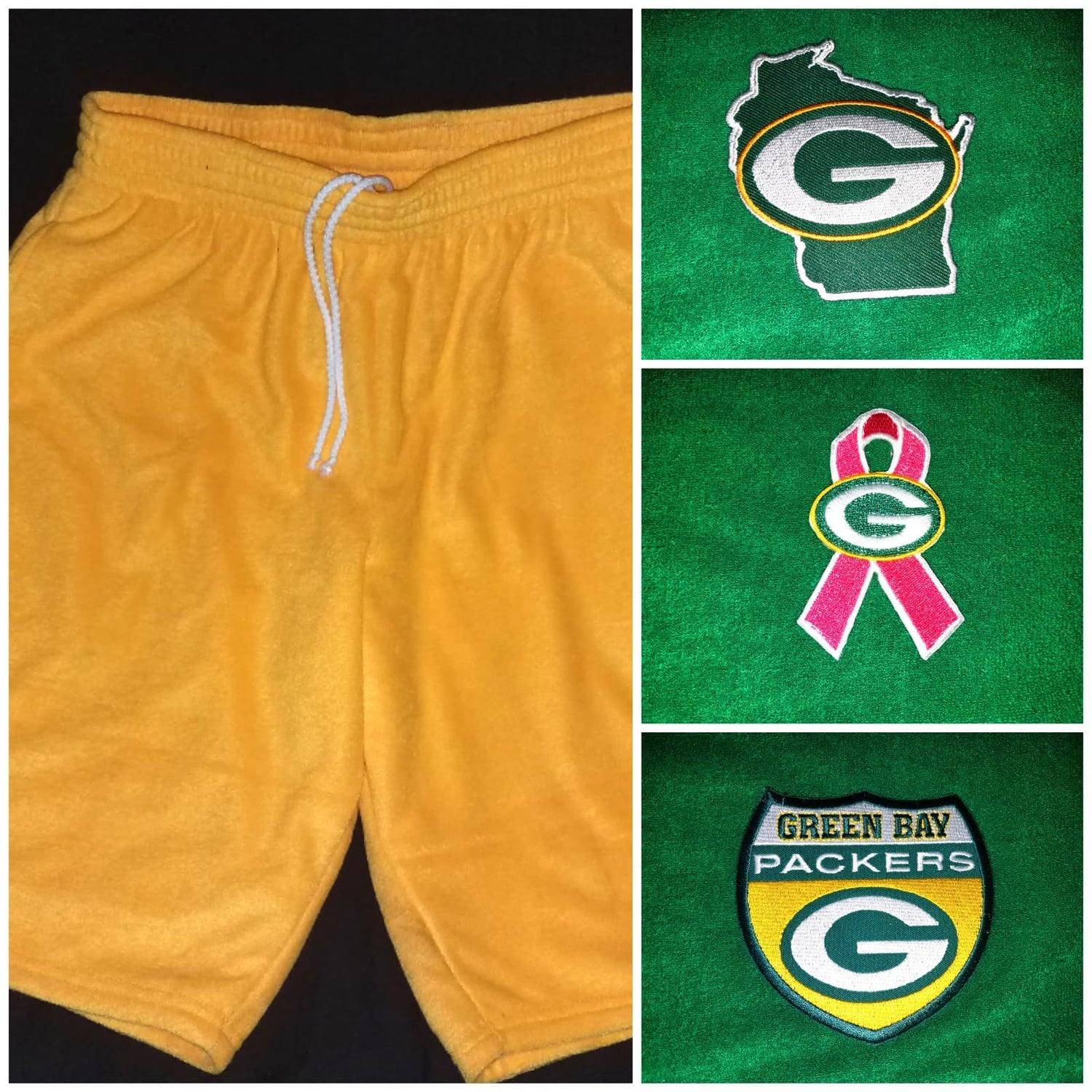 Image of Green Bay Packers Themed Towel Shorts
