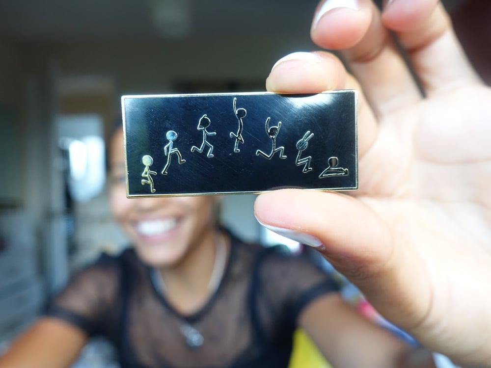 Image of Black Long Jump Pin