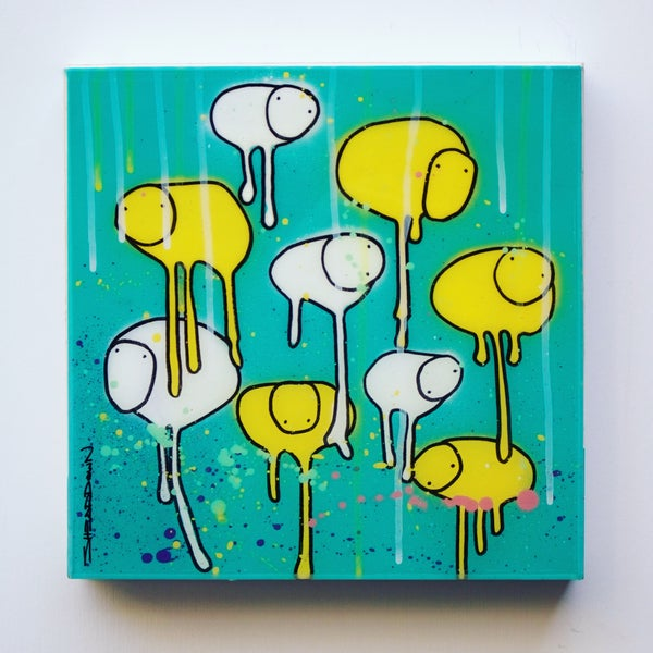 "Image of Raining Cows, ""SALAD DRESSING PT. 2"" 12""X12"""