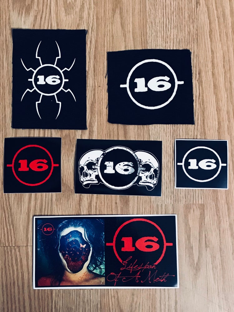 Image of 2 Screened Patches and Stickers