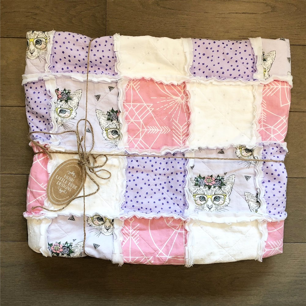 Image of Modern Rag Quilt- The Lucy