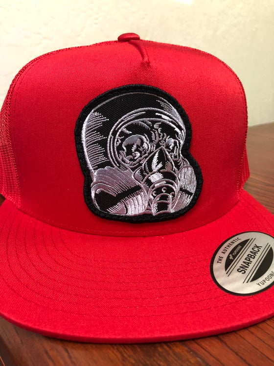 Image of PAINTHUFFER RED SNAPBACK