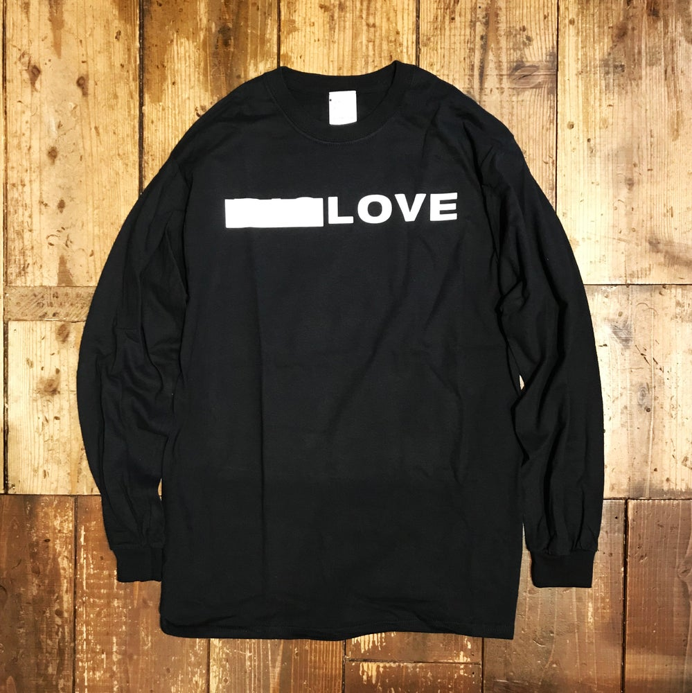 Image of BIG LOVE X SLAM JAM - BLACK LONG-T