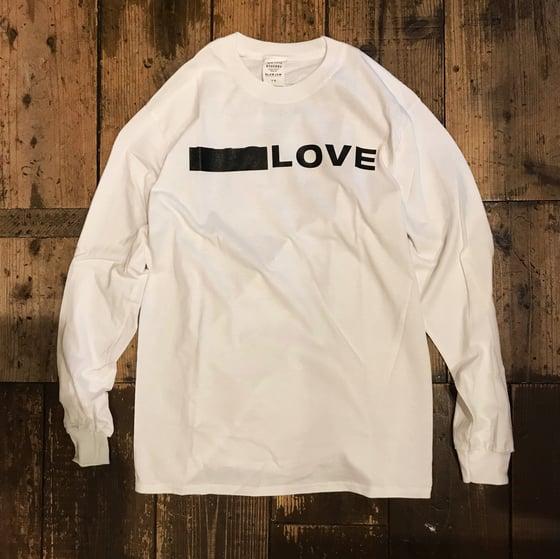Image of BIG LOVE X SLAM JAM - WHITE LONG-T