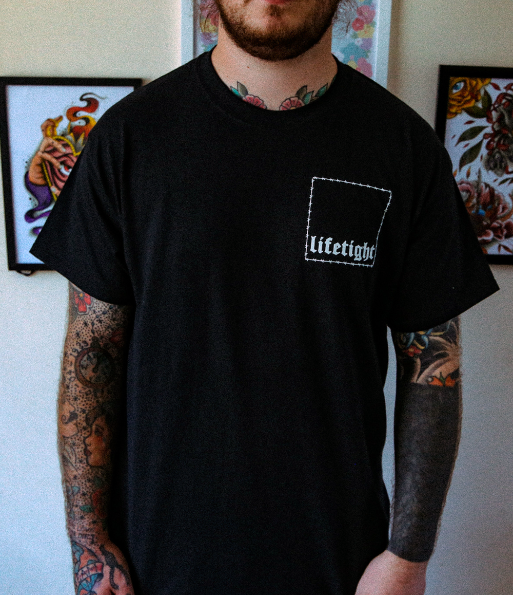 Image of BARBED WIRE TEE BLACK