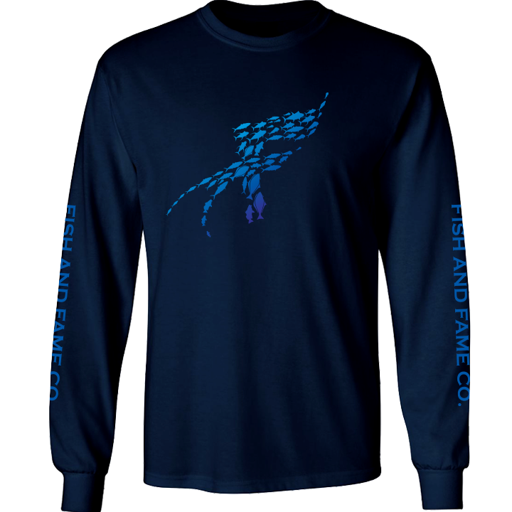 Image of F-X Long Sleeve (navy)