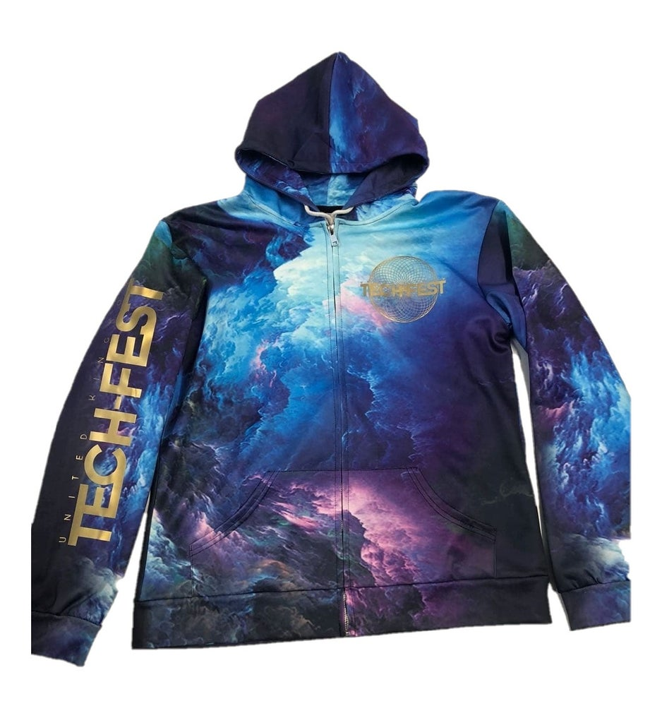 Image of 3D Galaxy Zip-Up