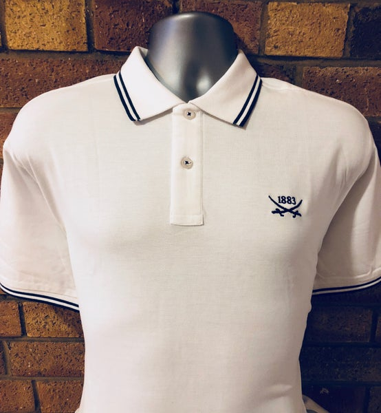 Image of White Single Colour Tipped Polo (Free UK Postage)