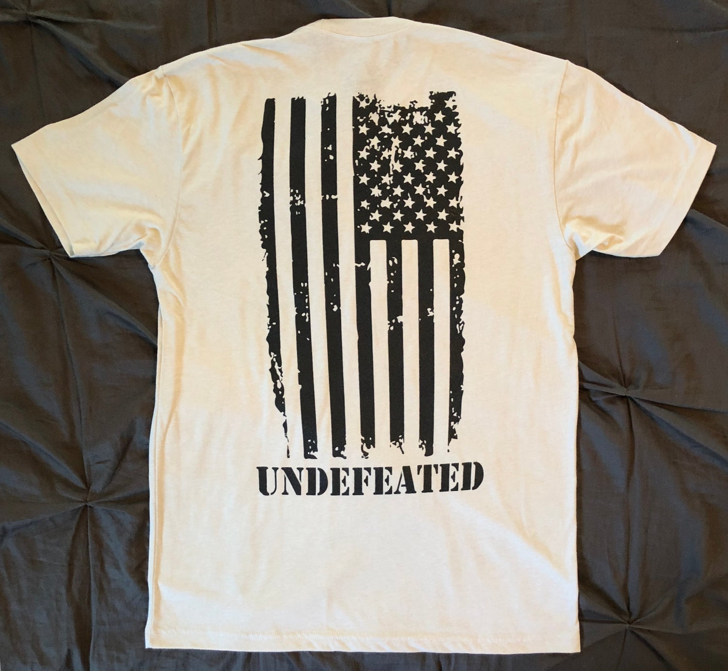 """Image of """"UNDEFEATED"""" CREW NECK - SAND"""