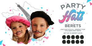 Image of Paris Party Berets! A Set of Ten