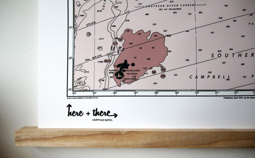 Image of New Zealand Map - Blushing