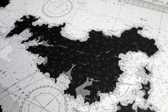 Image of Hauraki Gulf Map - 1983