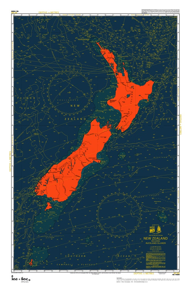 Image of New Zealand Map - Bloody Mary