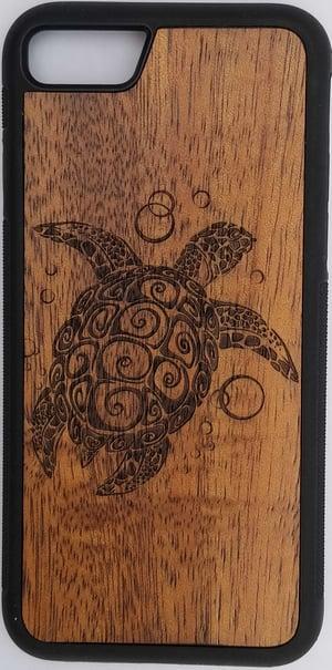 Image of Tribal Honu Koa wood phone case