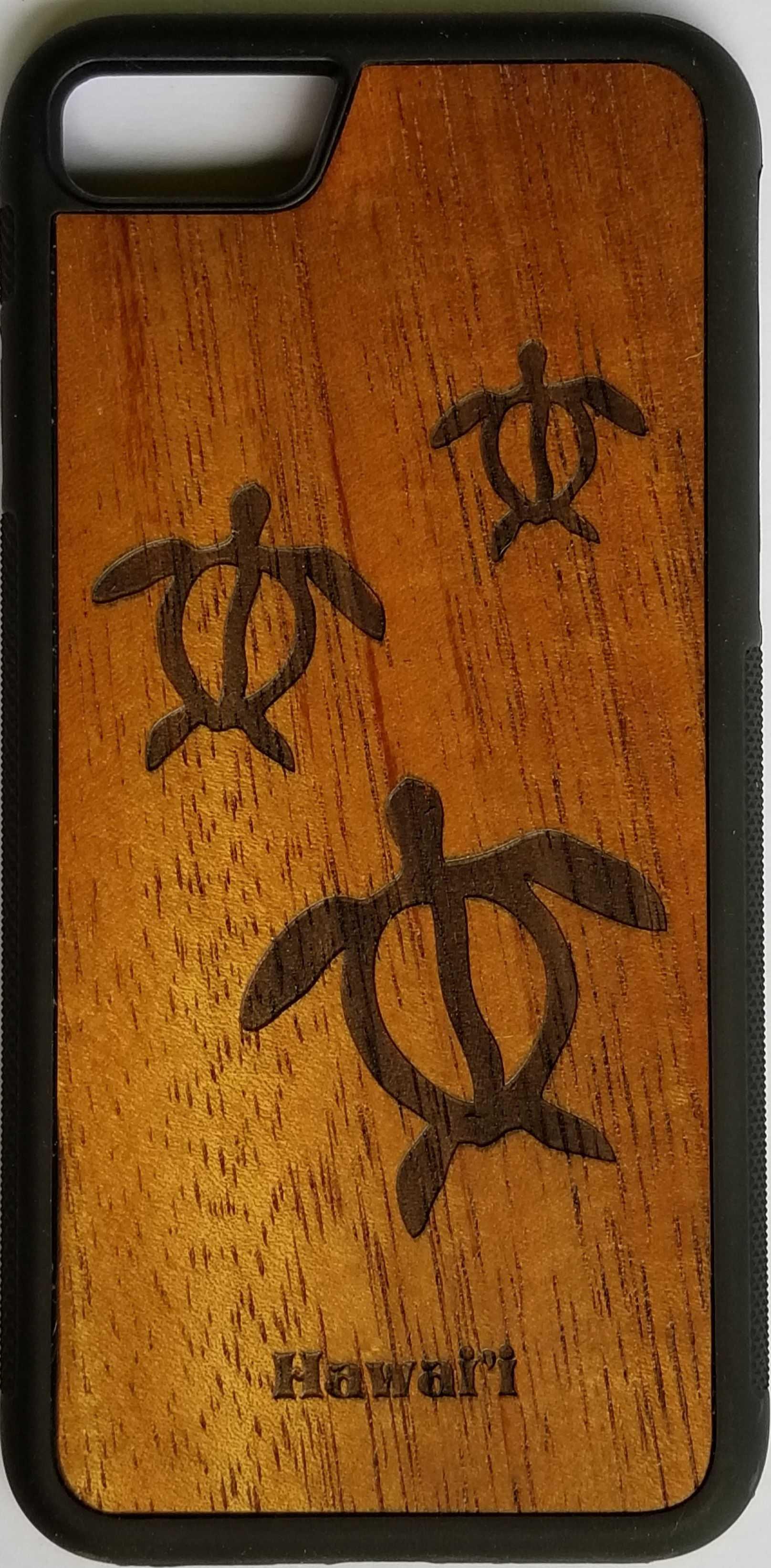 online retailer de828 041f0 Honu (sea turtle) glyph Koa wood phone case