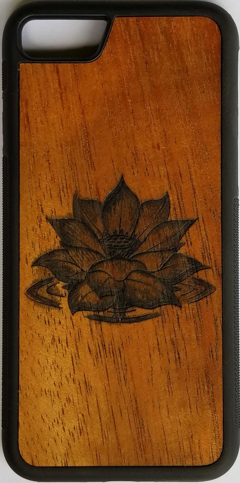 Image of Lotus Koa wood phone case