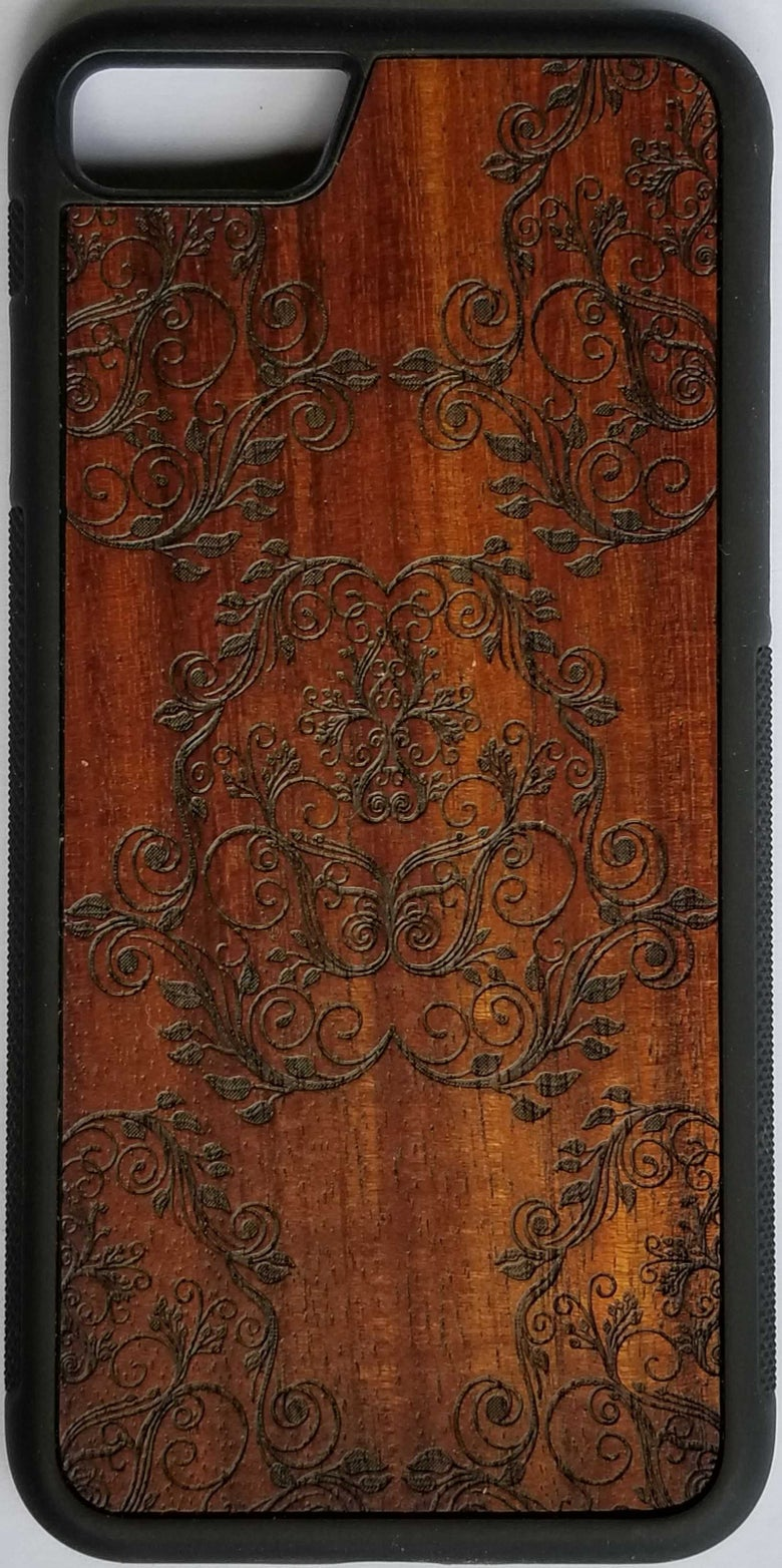Image of Damask Koa wood phone case