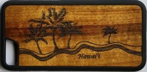 Image of Palms Koa wood phone case