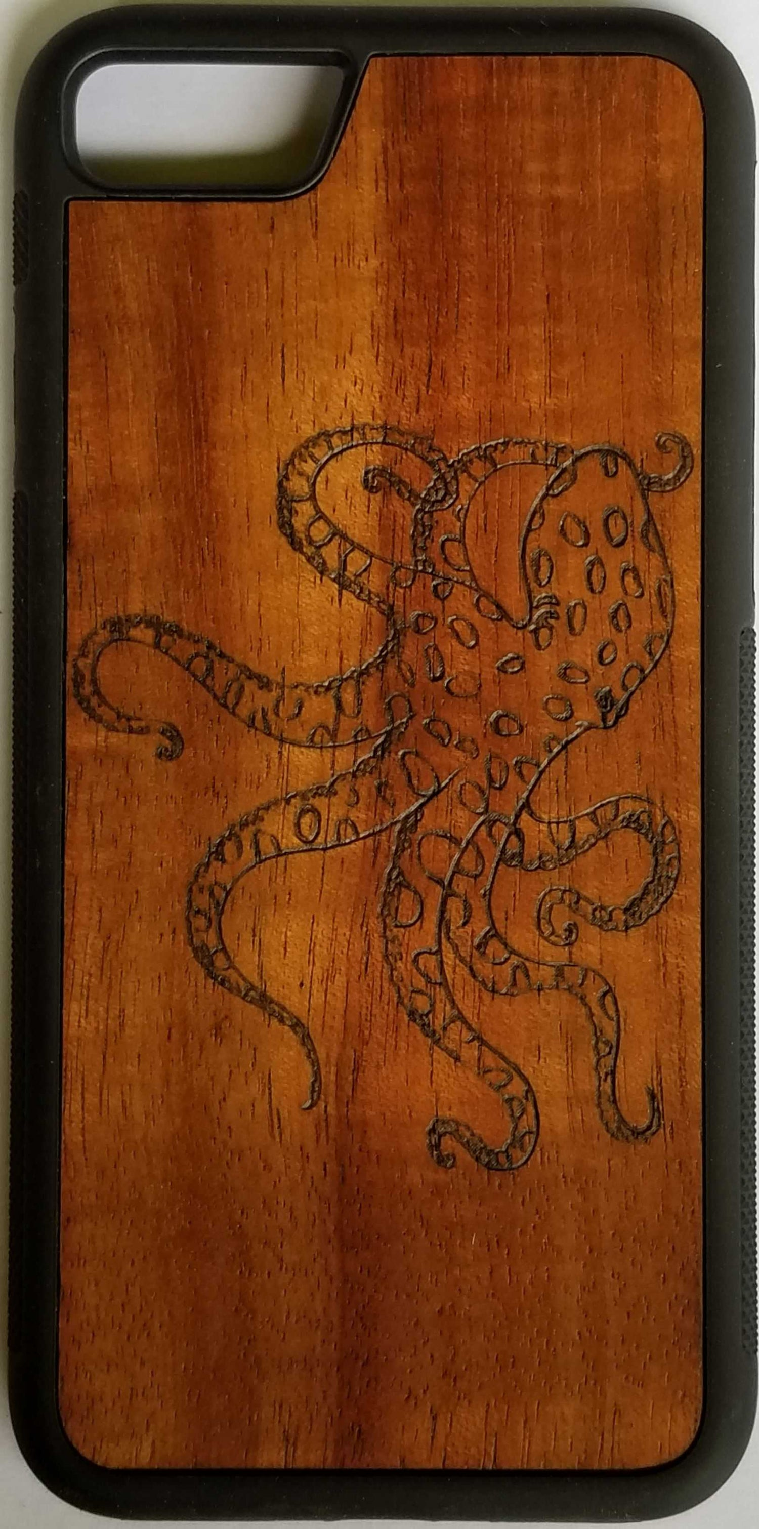 Image of Octopus Koa wood phone case