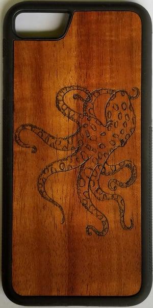 Image of Octopus Koa wood phone case