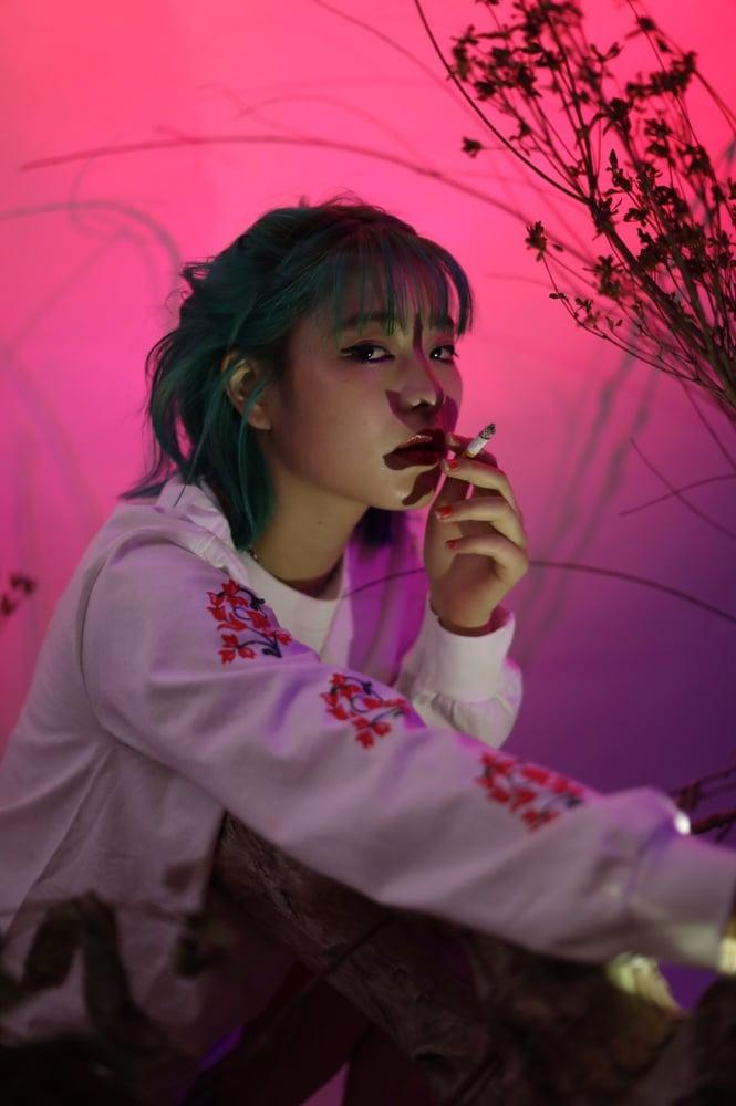 Image of x BLANKMAG flower l/s tee