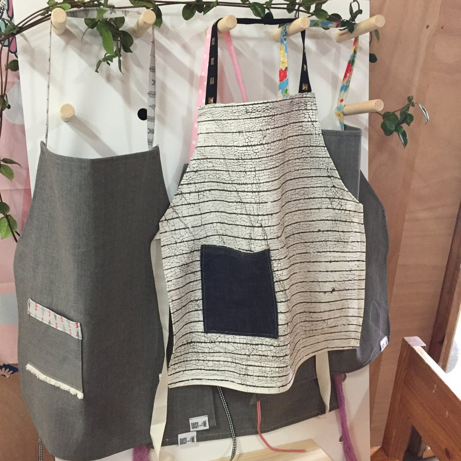 Image of Organic Cotton Kids Apron - Handpainted in Zambia