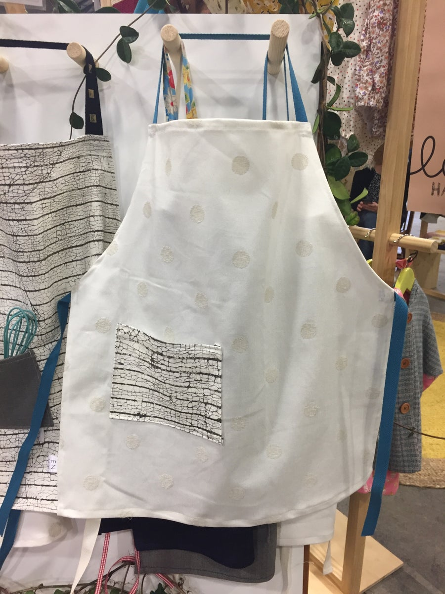 Image of Kids Apron with organic cotton pocket