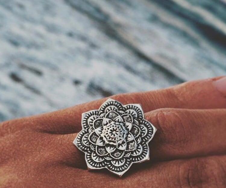 Image of Silver mandala ring