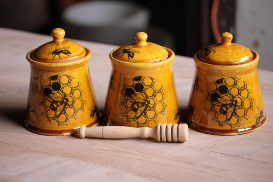 Image of Local honey pots