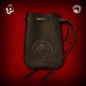 Image of Hellboy/B.P.R.D.: B.P.R.D. logo thick leather pouch!