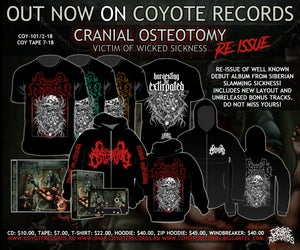 Image of CRANIAL OSTEOTOMY - Victim Of Wicked Sickness CD/Tape/Merch RE-press