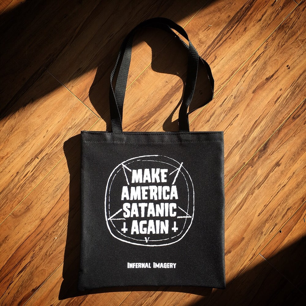 "Image of ""Make America Satanic Again"" Tote"