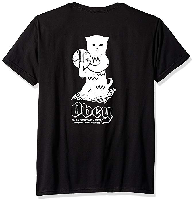 Image of OBEY - CUTS AND SCRATCHES TEE (BLACK)