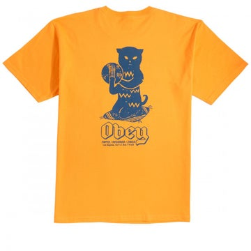 Image of OBEY - CUTS AND SCRATCHES TEE (GOLD)
